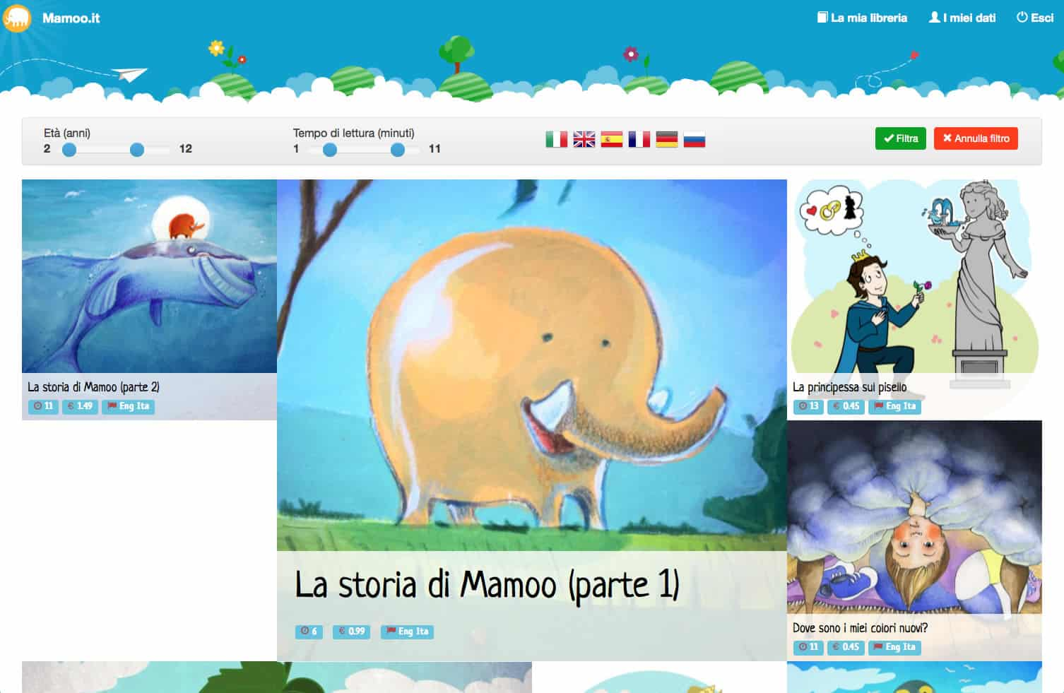 mamoo.it favole multilingua multimediali