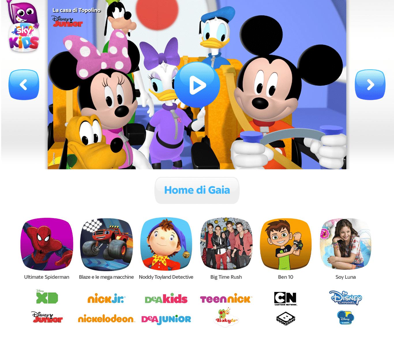 SkyKids, la nuova App di Sky dedicata ai bambini