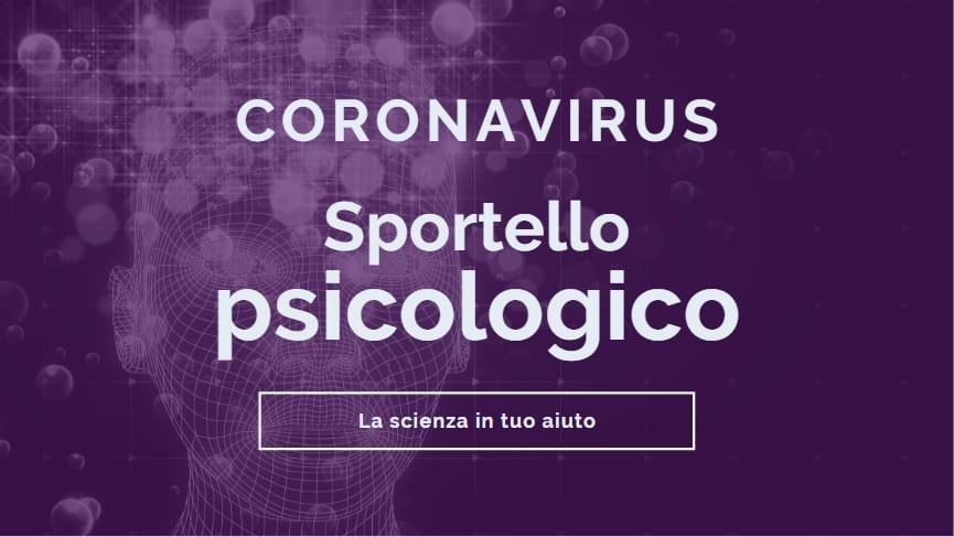 Da oggi c'è lo Sportello psicologico Coronavirus