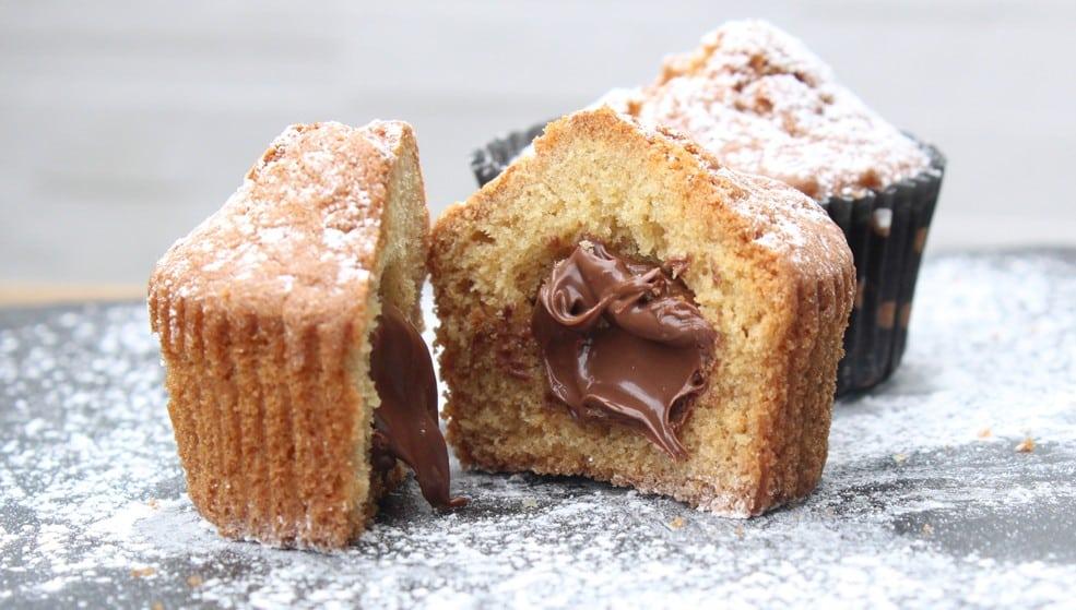 Muffin con cuore di nocciola.