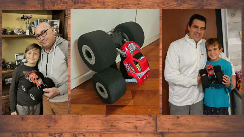 Genitori e figli testano Stunt Shot di Spin Master